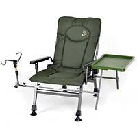 Кресло рыбацкое кресло для рыбалки и отдыха кресло карповое M-Elektrostatyk F5R ST/P 110 кг + боковой столик +