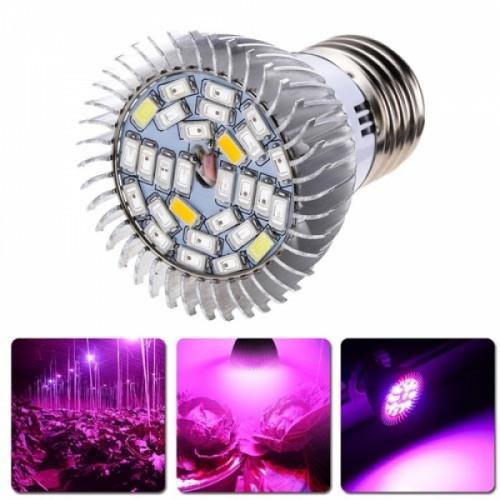 Фитолампа фито лампа для растений, полный спектр E27, 28 LED 8Вт, 104180