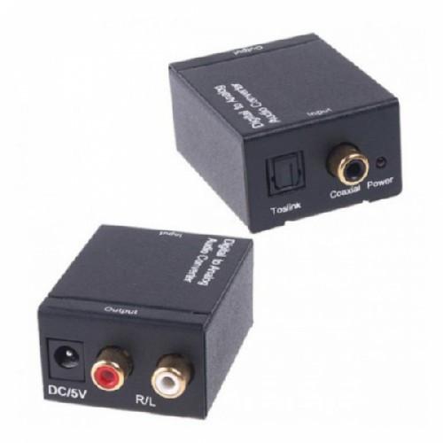 Конвертер ЦАП Toslink, Coaxial - RCA цифра-аналог, 104238