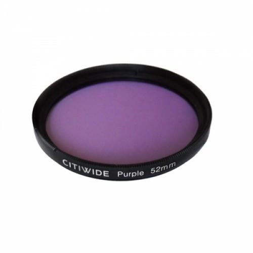 Цветной фильтр 52мм фиолетовый, CITIWIDE, 104245