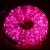 Светодиодная уличная гирлянда Дюралайт LTD Duralight Pink 10 метров + контроллер