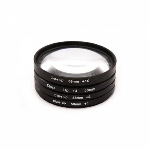 Набор макролинз 58мм Close-up, +1+2+4+10, макро, 102829