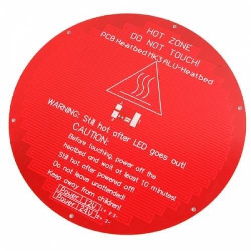 Нагревательная платформа КРУГЛАЯ стол MK3 ALU 12/24В дельта 3D-принтера, 102862