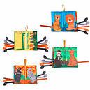 Книга м'яка для дітей розвиваюча тканинна з тваринами Tumama, фото 2