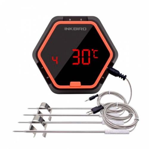 Термометр кулинарный Bluetooth для гриля INKBIRD IBT-6XS +4 датчика, 104632