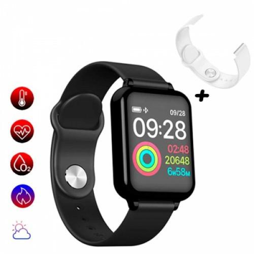 Смарт часы умные спортивные Фитнес браслет B57 + сменный ремешок, 104693