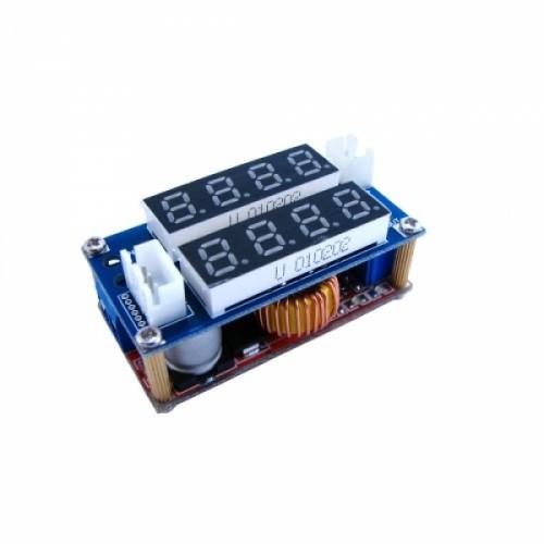 Преобразователь напряжения понижающий XL4015 5-32 на 1-30В ампер/вольтметр, 103312