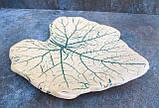Тарілка Лист середня зелене тонування, фото 2