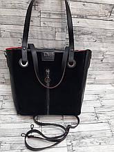 Стильная Женская сумка из натуральной замши Dior. Черный