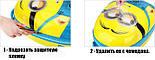 Детский пластиковый чемодан на четыре колеса с выдвижной ручкой Холодное сердце, ручная кладь 44/30/20 см, фото 4