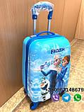 Детский чемодан с телескопической ручкой FROZEN с Анной и Эльзой на подарок, ручная кладь 44/30/20 см, фото 2