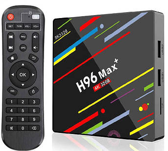 Тв приставка H96 Max plus 4/32 Wi-Fi Android тв бокс
