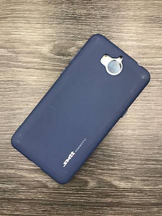 Силиконовый чехол Smitt для Huawei Y5 2017 Dark blue, фото 2