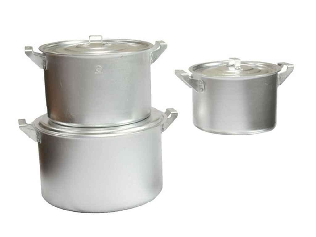 Набор алюминиевых больших кастрюлей (котлов) Interos 3 шт