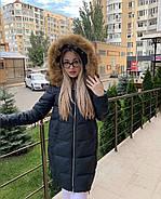 Пуховик зимний с капюшоном Visdeer 813-B03-Green, фото 2