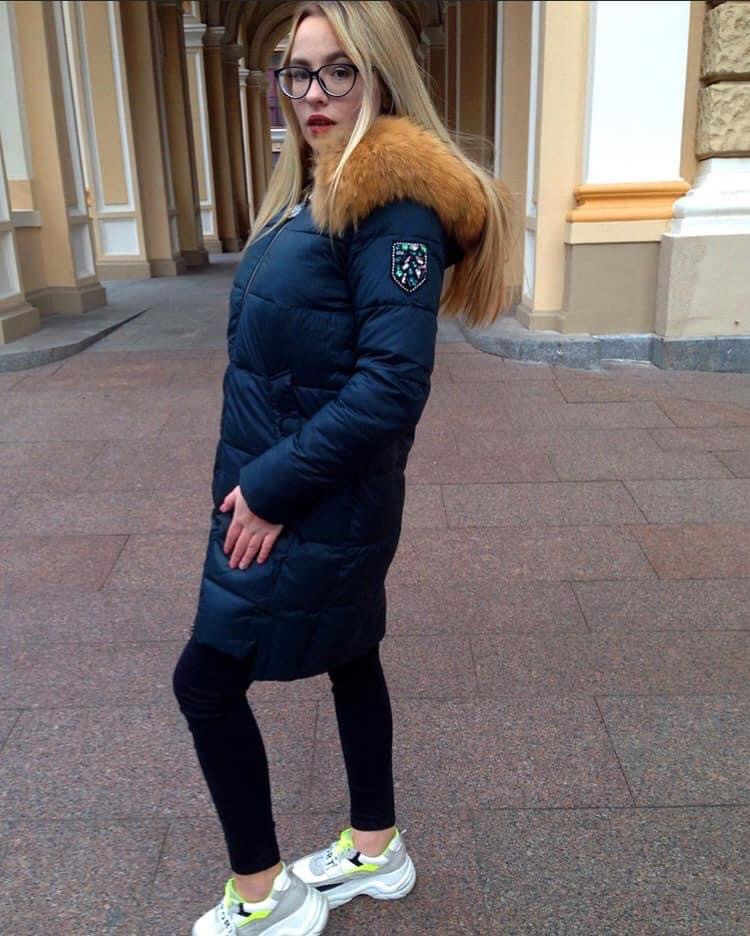 Пуховик зимний с капюшоном Visdeer 813-B03-Green