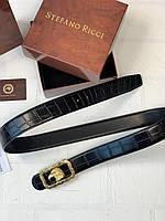 Ремень STEFANO RICCI брендовый мужской кожа реплика премиум копия, фото 1