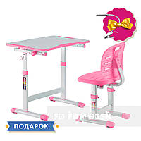 Комплект парта + стул трансформеры Omino Pink FunDesk, фото 1