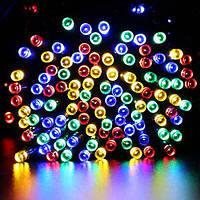 Новогодняя светодиодная гирлянда нить 10 метров многоцветная уличная ECOLEND