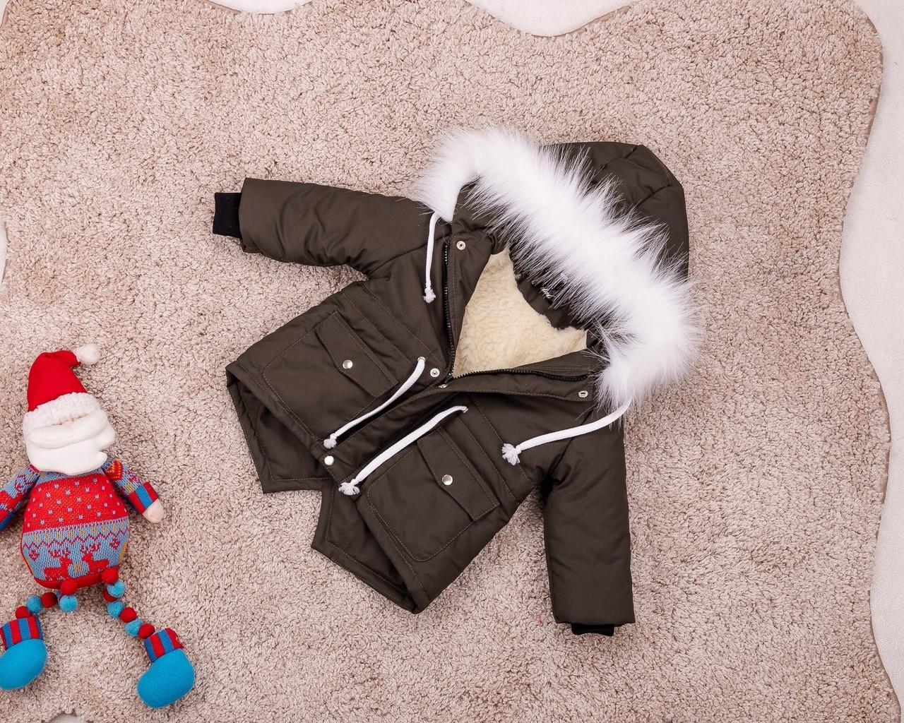 Теплая зимняя парка для мальчиков 80-146 р