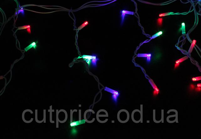 Xmas гирлянда LED 120 3.3Line Short curtain(Сосульки/Бахрома) M-1 RGB 5Mетров Ул.+соед.Белый (16)