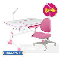 Комплект подростковая парта для школы Amare Pink + ортопедическое кресло Bello I Pink FunDesk, фото 1