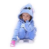"Кигуруми ""Stitch Blue"" для ребенка 1-4 лет (рост 85-100 см)"
