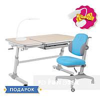 Комплект для мальчика стол-трансформер FunDesk Invito Grey + эргономичное кресло FunDesk Inizio Blue, фото 1
