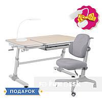 Комплект для школьника стол-трансформер FunDesk Invito Grey + эргономичное кресло FunDesk Inizio Grey, фото 1