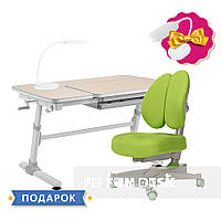 Комплект для подростков стол-трансформер FunDesk Invito Grey + ортопедическое кресло FunDesk Contento Green, фото 1