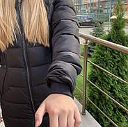 Стильный женский пуховик  FINEBABYCAT 553-black, фото 2