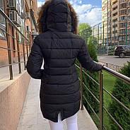 Стильный женский пуховик  FINEBABYCAT 553-black, фото 3
