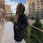 Стильный женский пуховик  FINEBABYCAT 553-black, фото 4