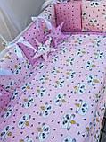 """Комплект """"Elite"""" в дитяче ліжечко, рожевий, фото 2"""