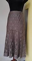Нарядная юбка из серебристо серого гипюра 48 50 Solar