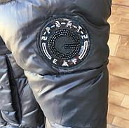 Короткий пуховик ZLLY 19326-Black, фото 4