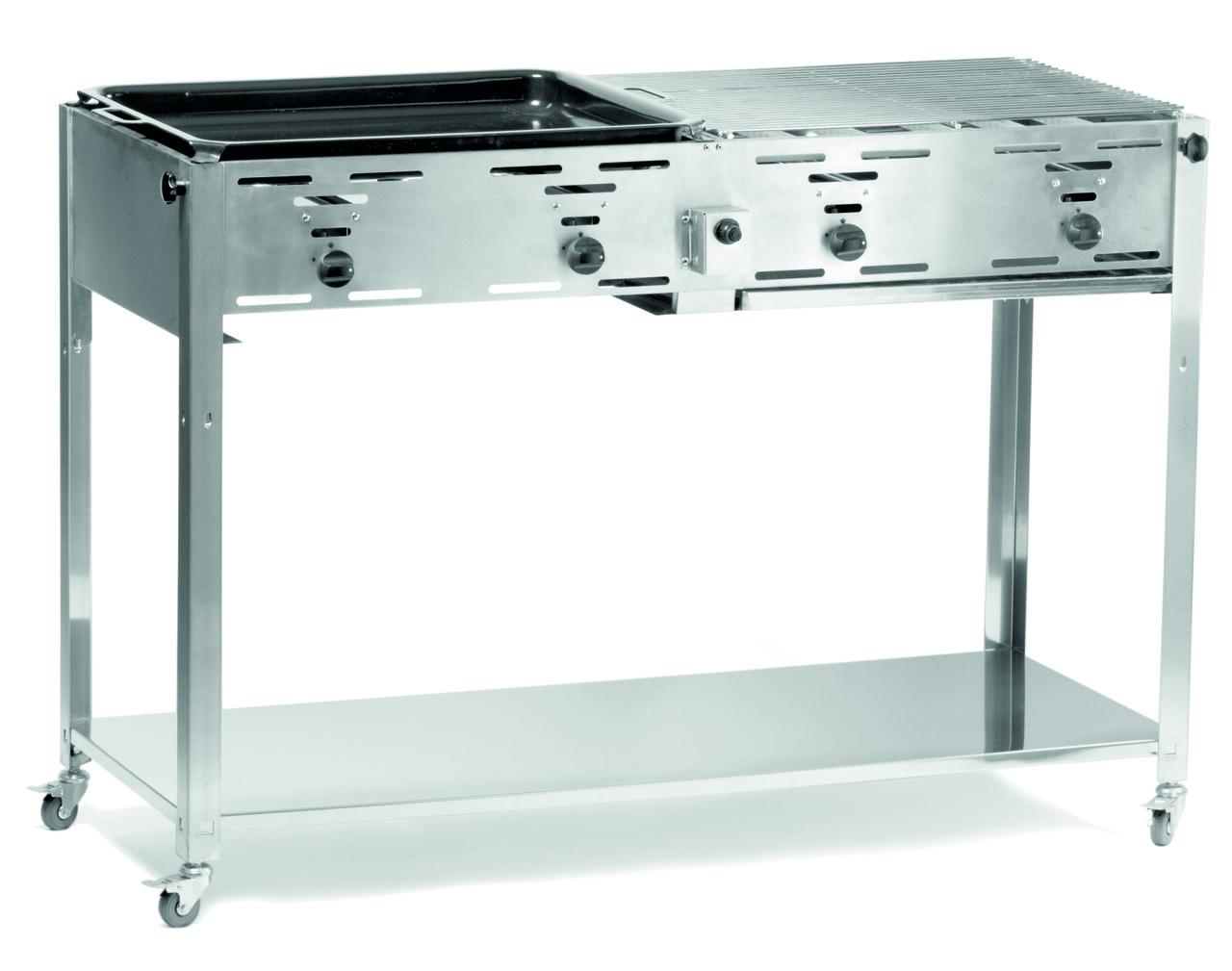 Гриль для барбекю газовый Grill-Master Quattro 154908 Hendi (Нидерланды)