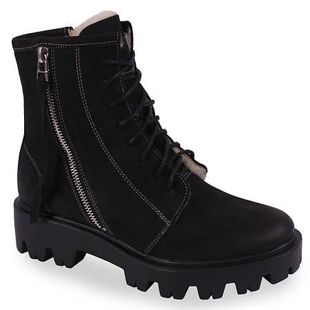 809b1c241dd4 40 размер Женские зимние ботинки Kampa (теплые, овчина, польша, черные,  нубук, на