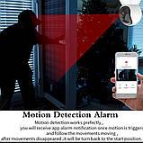 Беспроводная WiFi Камера  Видеонаблюдения с поворотом MARLBOZE, радио няня, СИГНАЛИЗАЦИЯ, фото 4
