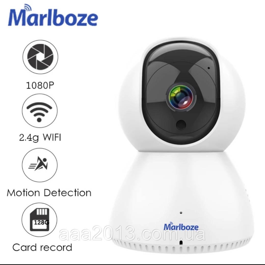 Беспроводная WiFi Камера  Видеонаблюдения с поворотом MARLBOZE, радио няня, СИГНАЛИЗАЦИЯ