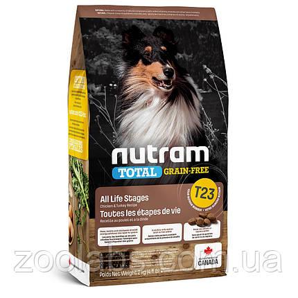 Корм Nutram для собак з індичкою, куркою і качкою | Nutram T23 Total Grain Free Turkey, Chiken & Duck 11,4 кг, фото 2
