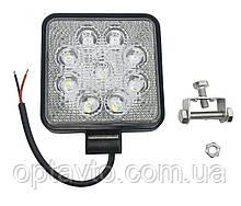 Светодиодные фары ОПТОМ! LED (лэд) фара квадратная 9 диодов. 27Вт. 12-24 Вольт. Ближний и Дальний.
