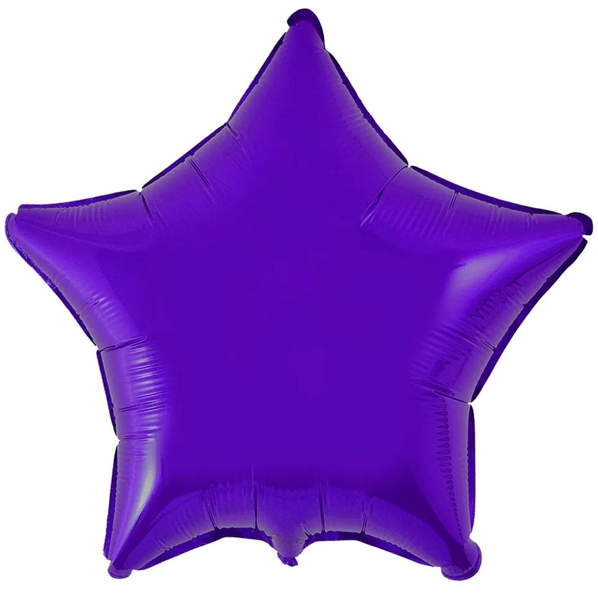 """Flexmetal  18""""(45см)  ЗВЕЗДА Металлик Фиолетовая в упаковке"""