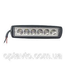 Светодиодные фары ОПТОМ! LED (лэд) фара 6 диодов. 18 Вт. 12-24 Вольт. Ближний и Дальний.