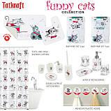 Коврик в ванную комнату Tatkraft Funny Cats со специальным противоскользящим основанием 50х80 см (14930), фото 5