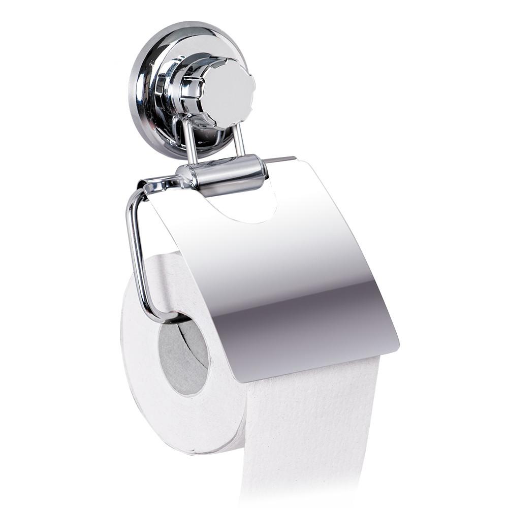 Держатель для туалетной бумаги Tatkraft Megalock металлический с вакуумной присоской  13х19.5х3 см (11458)