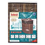 Корзина для белья Tatkraft ATHENA угловая с съемным хлопковым мешком коричневая бамбук 48л 35x35x50 см (11250), фото 7