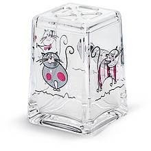Стакан для зубних щіток Tatkraft Acryl Funny Cats з небиткого акрилу (12967)