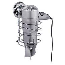 Тримач для фена Tatkraft MEGA LOCK на вакуумній присоску 10х18.5х12.5 см сріблястий (11441)