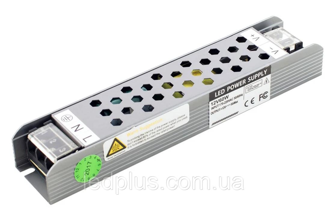 Блок питания 12В 5А (60Вт) BPU-60-12 Professional